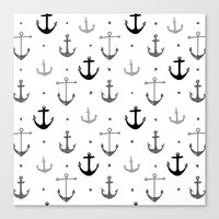 anchor Canvas Prints featuring Anchor by Miriam Sironi