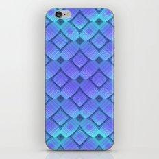Aqua/Lilac Criss-Cross iPhone Skin