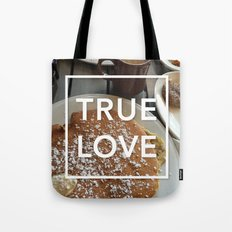 true love: breakfast Tote Bag
