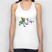 captain hook Tank Tops featuring Peter Pan and Captain Hook in watercolor by Paulrommer