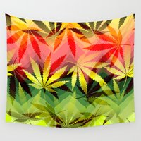 marijuana Wall Tapestries featuring Marijuana by SpecialTees