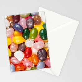 Cool colorful sweet Easter Jelly Beans Candy Stationery Cards
