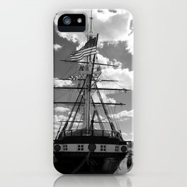 Baltimore Harbor - USS Constellation iPhone Case
