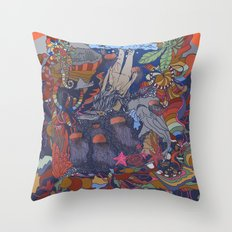 Dive into the Unknown Throw Pillow