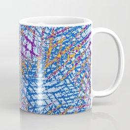 Blue Abstract Stripes Beach Colors Coffee Mug