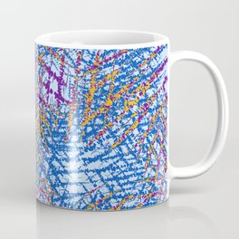 Blue Abstract Stripes Beach Colors Coffee Mug