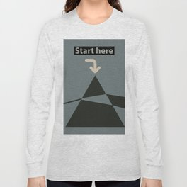 Dark side of the moon / start here Long Sleeve T-shirt