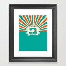Sew-burst Framed Art Print
