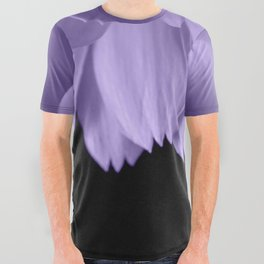 Ultra violet purple flower petals black All Over Graphic Tee