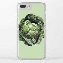 Pixel Art Cabbage Head Clear iPhone Case