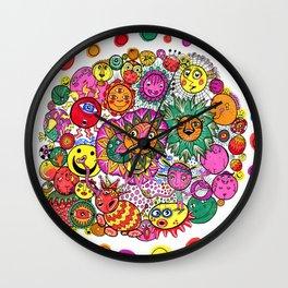 Circle of Circular Stuff Doodle Wall Clock
