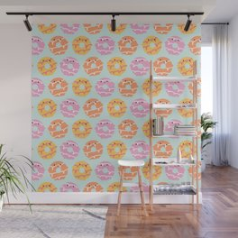 Kawaii Party Rings Biscuits Wall Mural