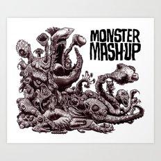 Zombie Monster Mashup Art Print