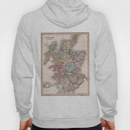 Vintage Map of Scotland (1832) Hoody