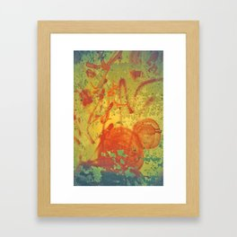 Red on Wall Framed Art Print