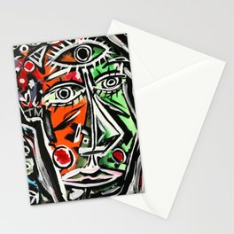 Untitiled - Abstract portrait painting Stationery Cards