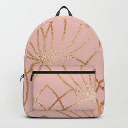 Rose gold millennial pink blooms Backpack