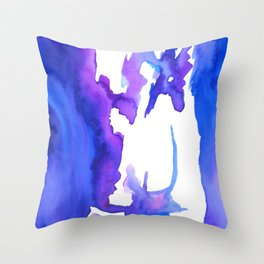 Blurry back Throw Pillow