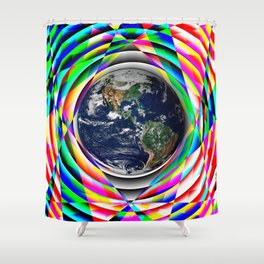 Earth Vibes Shower Curtain