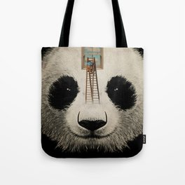 Panda window cleaner 03 Tote Bag