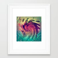 underwater Framed Art Prints featuring Underwater by GypsYonic
