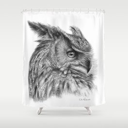 Eagle Owl G085 Shower Curtain