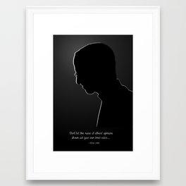 Steve Jobs Silhouette & Quote Framed Art Print