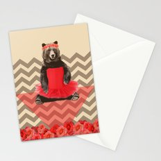 the bear who wanted to become a dancer Stationery Cards