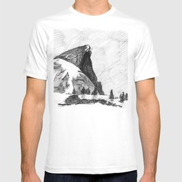 Drawing of Half-Dome in Yosemite from the north T-shirt
