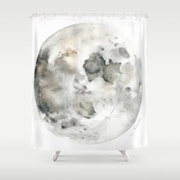 Bare Moon Shower Curtain