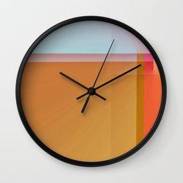 Fibonacci Sunset 1 Wall Clock