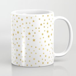 Gold Star Sprinkle on White Coffee Mug