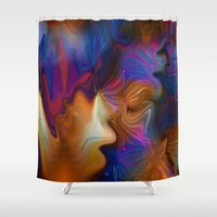 zappa Shower Curtains featuring Cozmic Debris by Tami Cudahy
