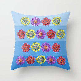 Stacks of Flowers Throw Pillow
