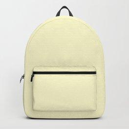 Pastel Lemon Yellow Pale Soft Meringue Yellow Backpack