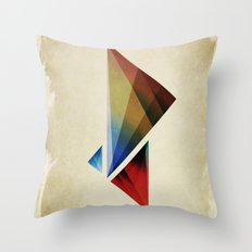 Triangularity Means We Dream in Geometric Colors Throw Pillow