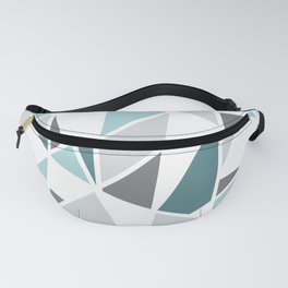 Geometric Pattern in teal and gray Fanny Pack