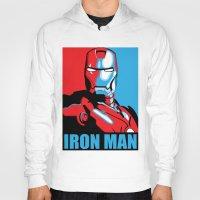 iron man Hoodies featuring Iron Man by C.Rhodes Design