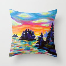 Landscape With Saucers Throw Pillow