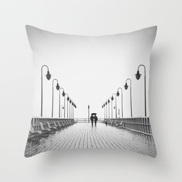 In Love On the Pier Throw Pillow