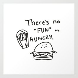 FUNGRY Art Print