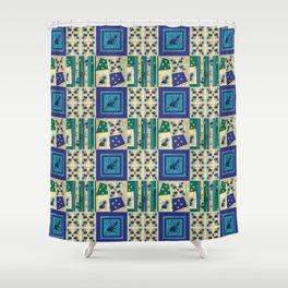 Thistle Print Quilt Coordinate Shower Curtain