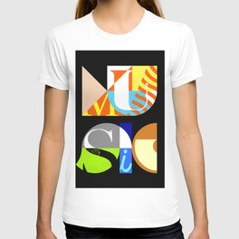 Music Typography T-shirt
