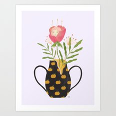 The Girl and The Broken Vase Art Print