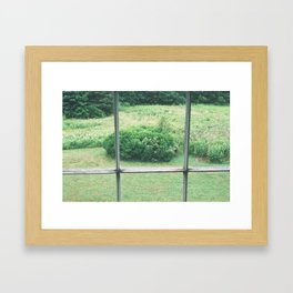 view from the olson house Framed Art Print