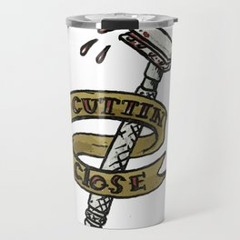 Cutting Close Shaving Razor Tattoo Travel Mug