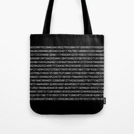 1000 Digits of Pi (Black) Tote Bag