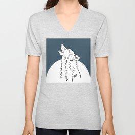Pra Loup Howling Wolf Unisex V-Neck
