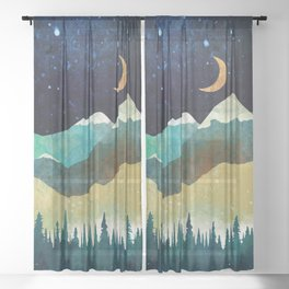 Snowy Night Sheer Curtain