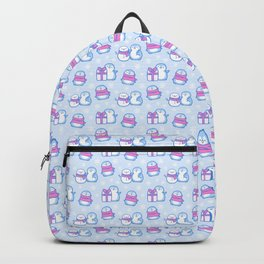 Winter Penguins // Blue Backpack